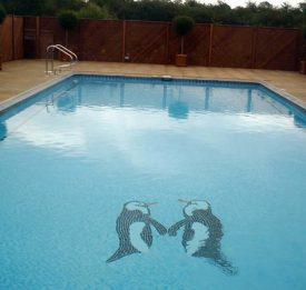 Penguin Mosaic Pool Bottom
